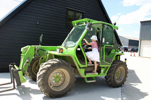 tractor fun on the farm