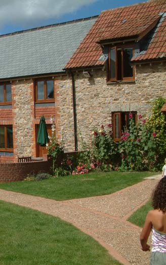 holiday cottages on a farm